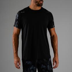 Cardiofitness T-shirt voor heren FTS 500 zwart AOP