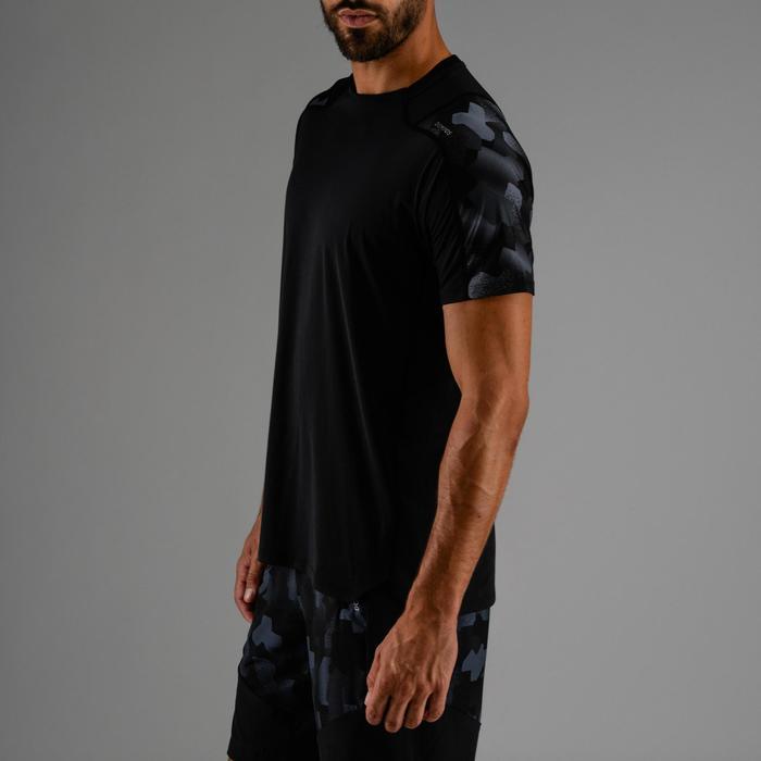 T-Shirt FTS 500 Cardio Fitness Herren schwarz