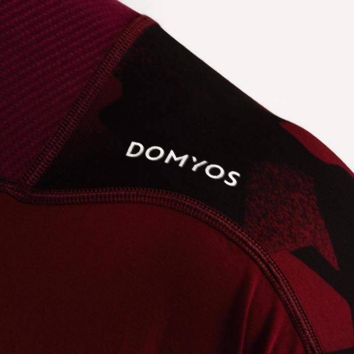 T-Shirt FTS 500 Cardio-/Fitnesstraining Herren bordeaux AOP