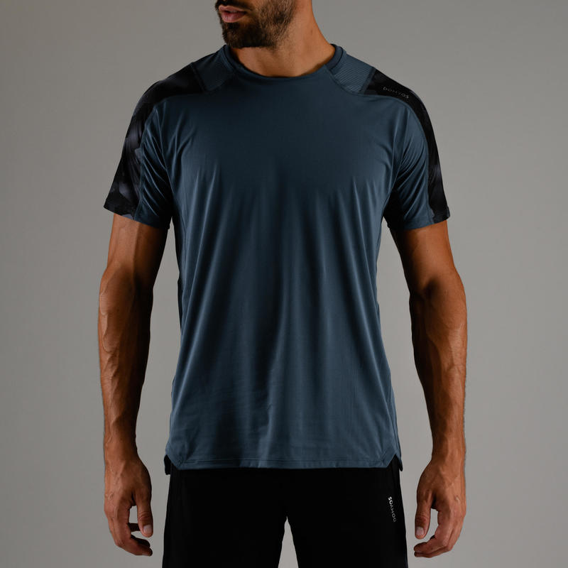Men's Smart-Fit Rapid Dry Cardio Gym T-shirt - Grey