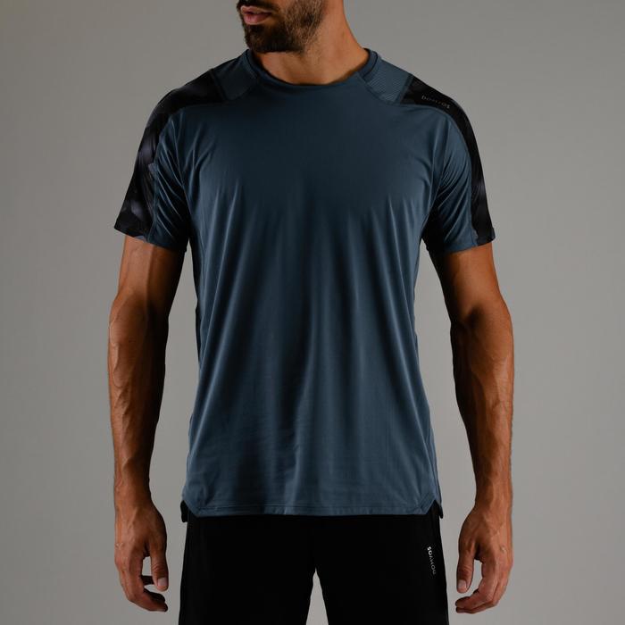 Cardiofitness T-shirt voor heren FTS 500 grijs AOP