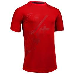 T-Shirt FTS 500 Fitness Cardio Herren rot mit Print