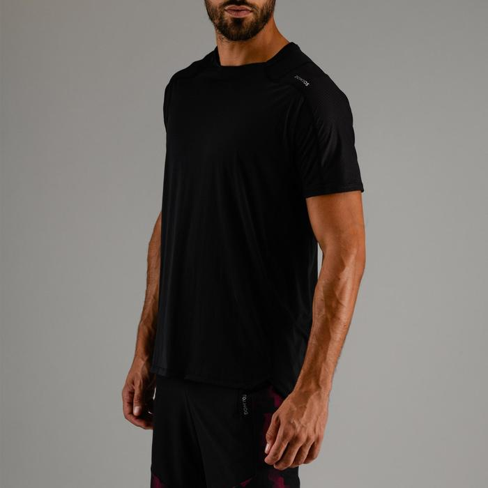 Tee shirt cardio fitness homme FTS 500 noir noir