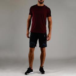 Tee shirt cardio fitness homme FTS 500 Bordeaux AOP