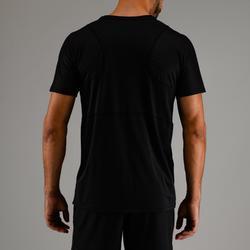 T-shirt voor cardiofitness heren FTS 500 zwart