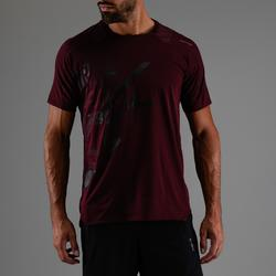 FTS 500 Cardio Fitness T-Shirt - Burgundy Print