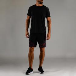 Camiseta manga corta Fitness Cardio Domyos FTS 500 hombre negro