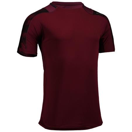 FTS 500 Cardio Fitness T-Shirt - Burgundy AOP
