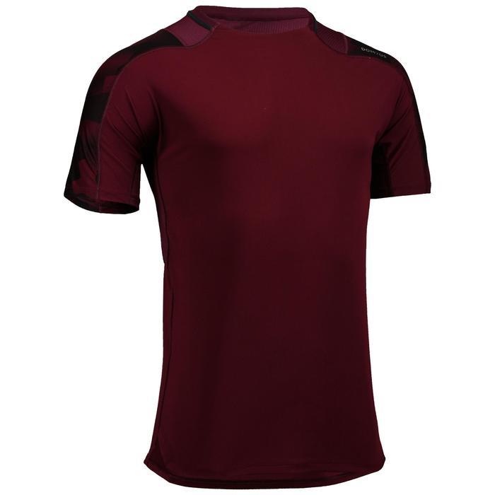 Cardiofitness T-shirt voor heren FTS 500 bordeaux AOP