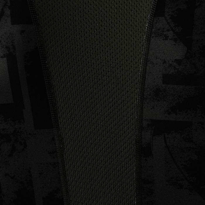 Tee shirt cardio fitness homme FTS 120 kaki AOP