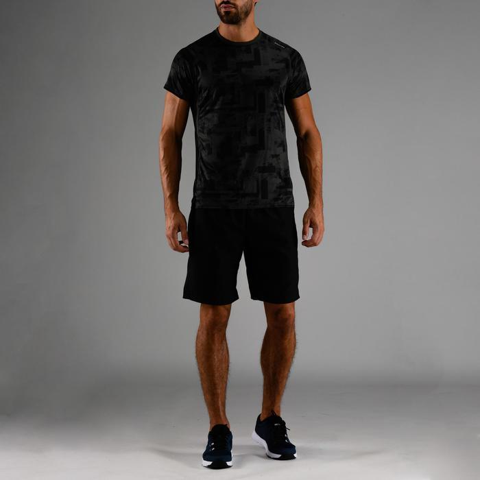 Camiseta cardio fitness hombre FTS 120 caqui AOP