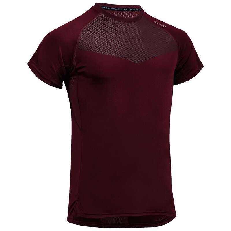 MAN FITNESS APPAREL Clothing - FTS 120 T-Shirt - Burgundy DOMYOS - Tops