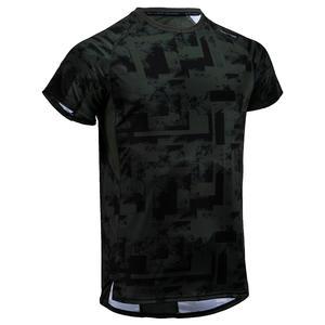 Men's Regular-Fit Rapid Dry Cardio Gym T-Shirt - Khaki