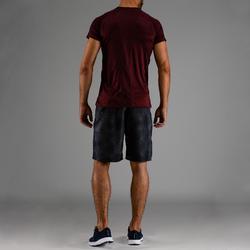 Tee shirt cardio fitness homme FTS 120 bordeaux