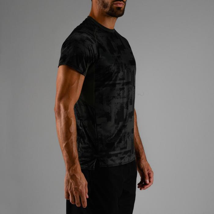 有氧健身T恤FTS 120-卡其色