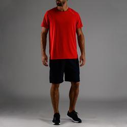 T-Shirt FTS 100 Fitness Ausdauer Herren blau/rot