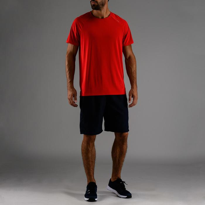 Tee-shirt cardio fitness homme FTS 100 bleu rouge