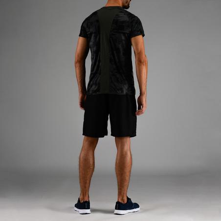 Playera cardio fitness hombre FTS 120 caqui AOP