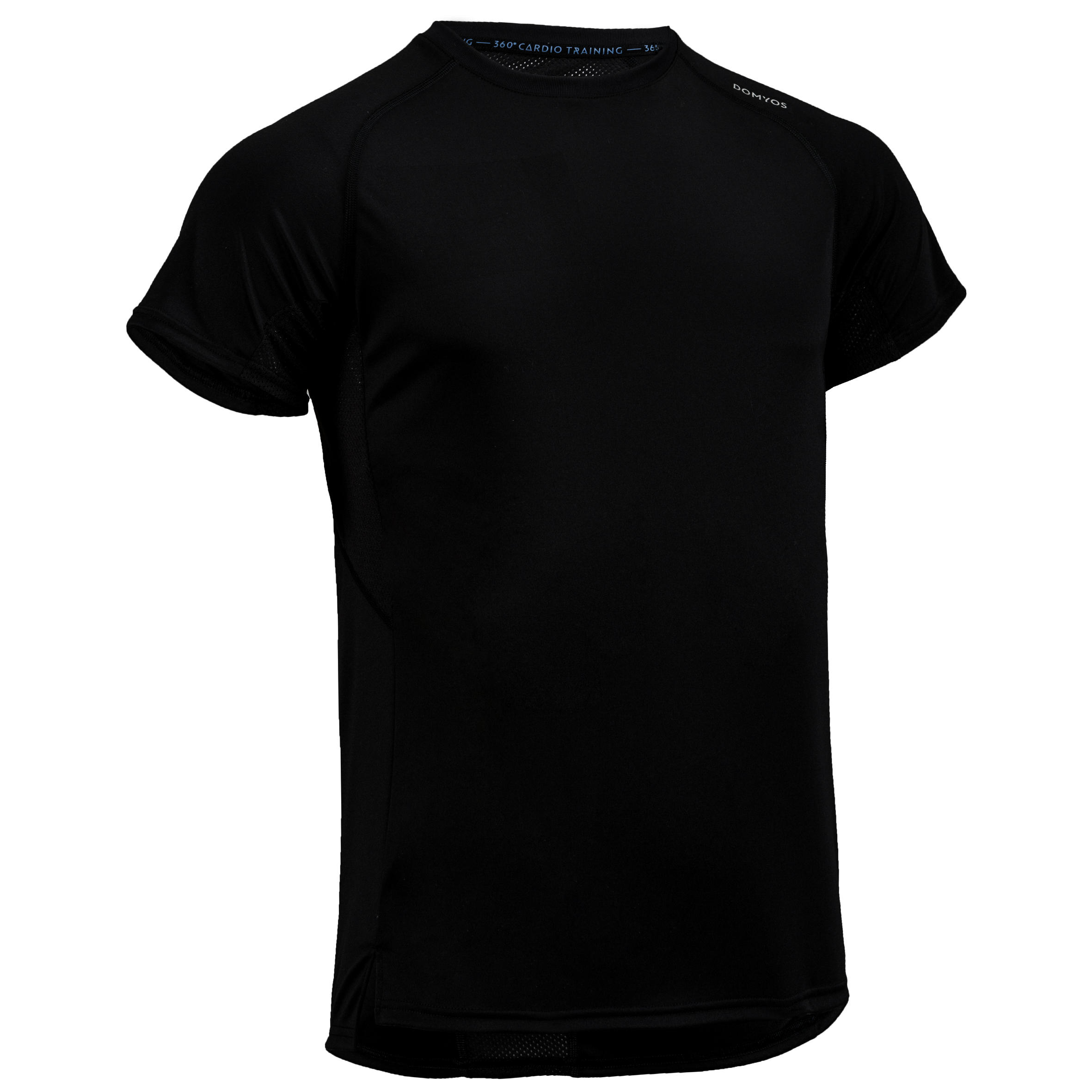 FTS 120 Cardio Fitness T-Shirt - Plain Black