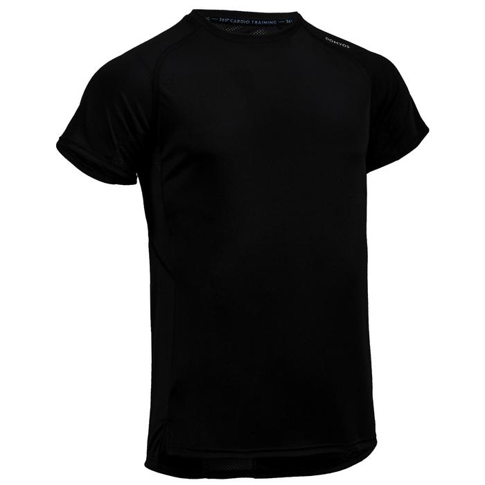 T-Shirt FTS 120 Fitness Cardio Herren schwarz