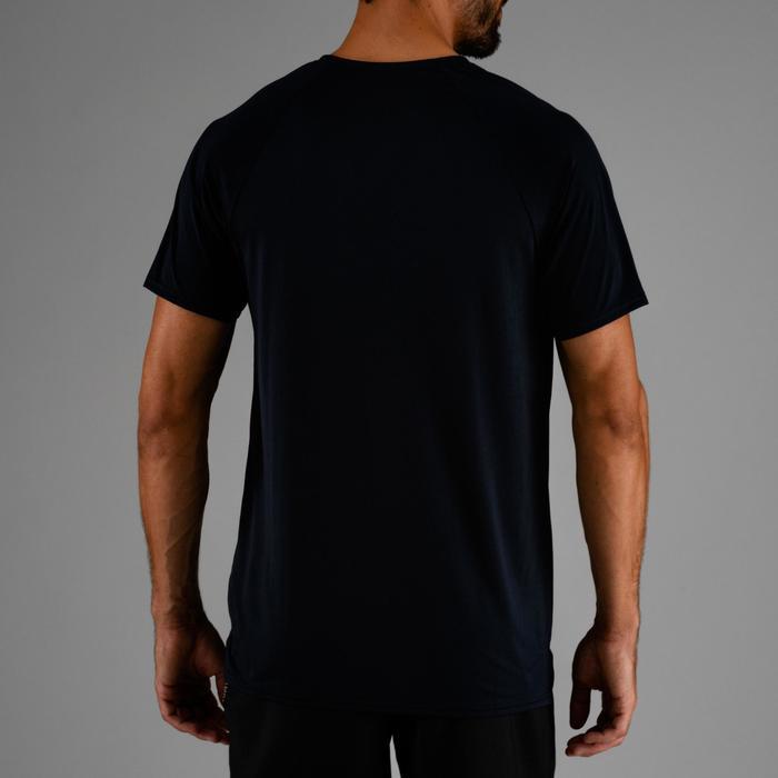 Camiseta de cardio fitness hombre FTS 100 azul marino
