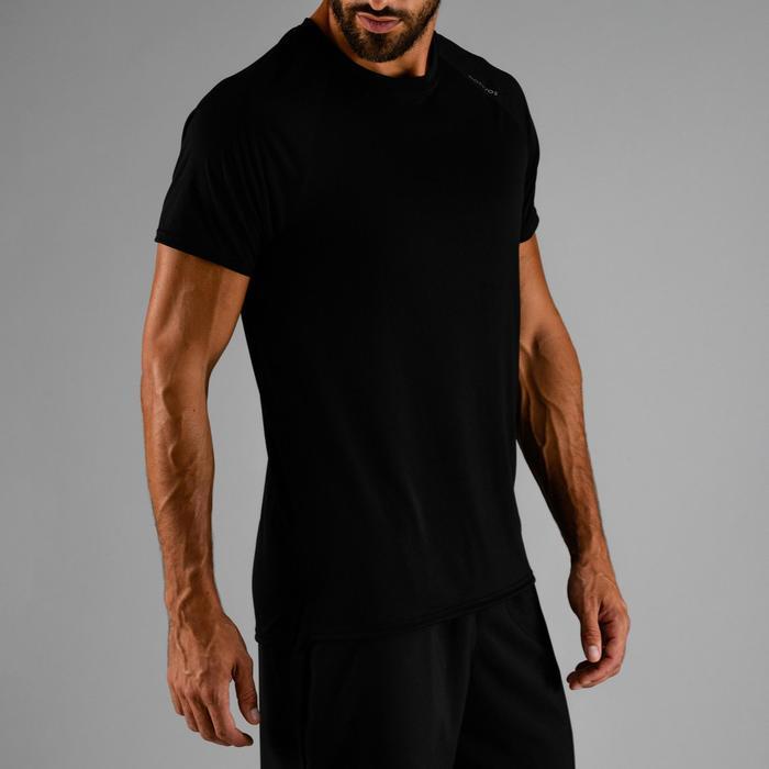 Camiseta de cardio fitness hombre FTS 100 H negra