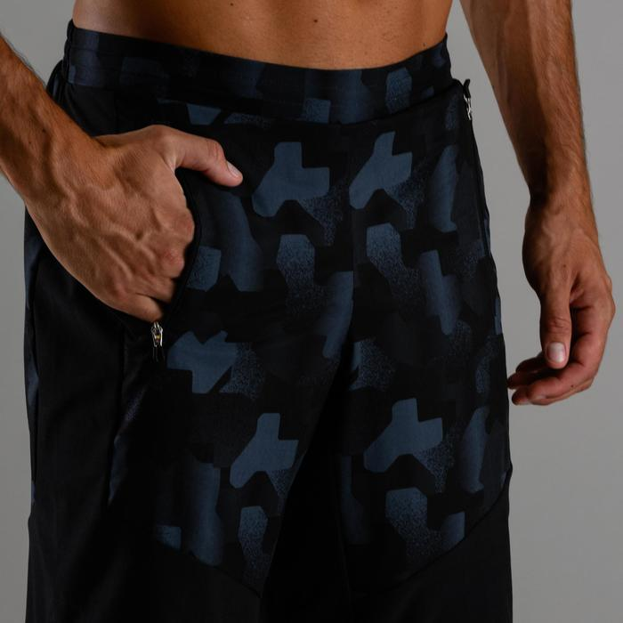 Sporthose kurz FST 500 Cardio Fitness Herren schwarz