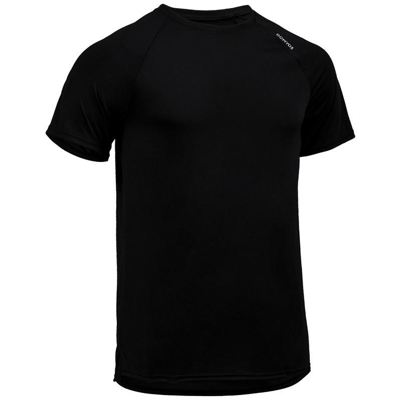 Playera de cardio fitness hombre FTS 100 H negra