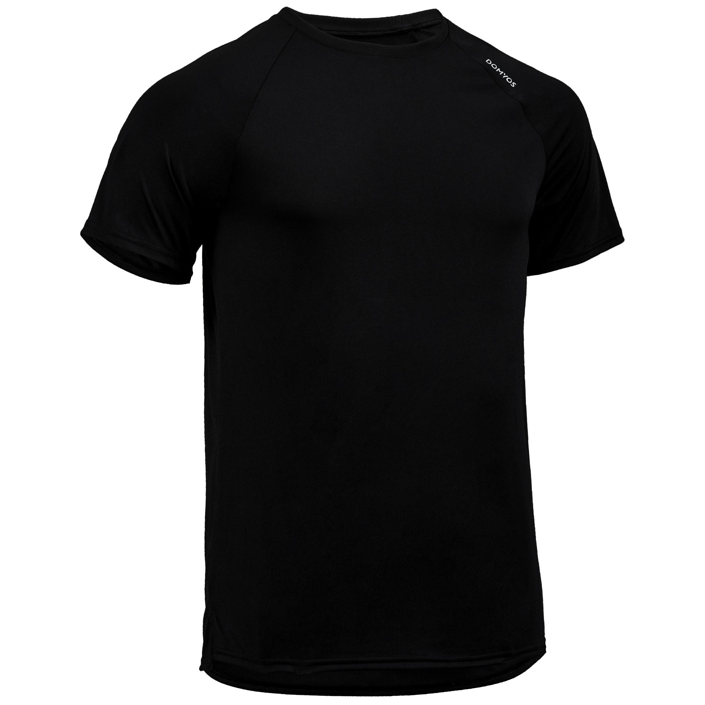 T-Shirt FTS 100 Fitness-/Cardiotraining Herren schwarz | Sportbekleidung > Sportshirts > Poloshirts | Schwarz | Domyos
