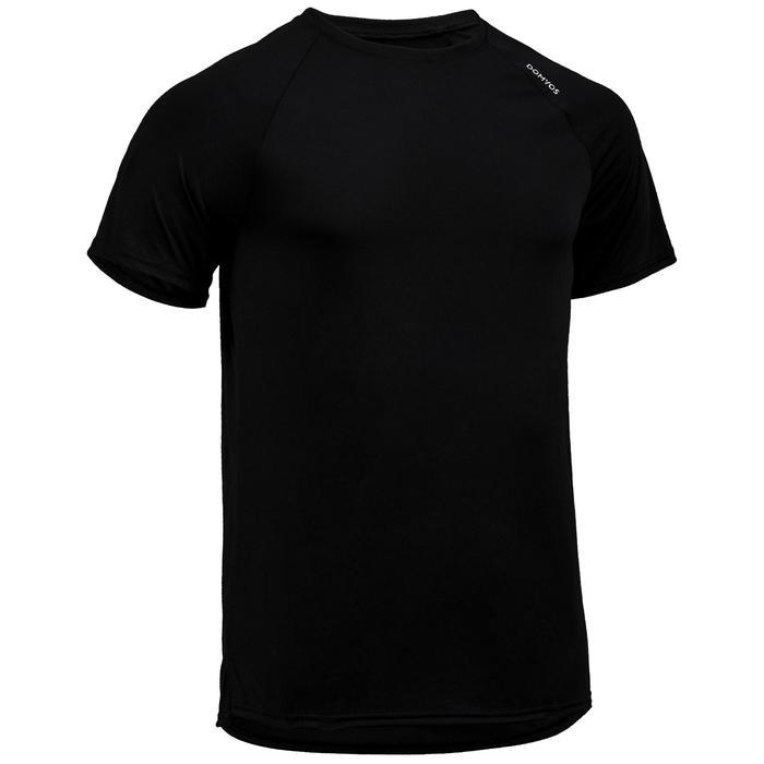 T-shirt voor cardiofitness heren FTS 100 zwart