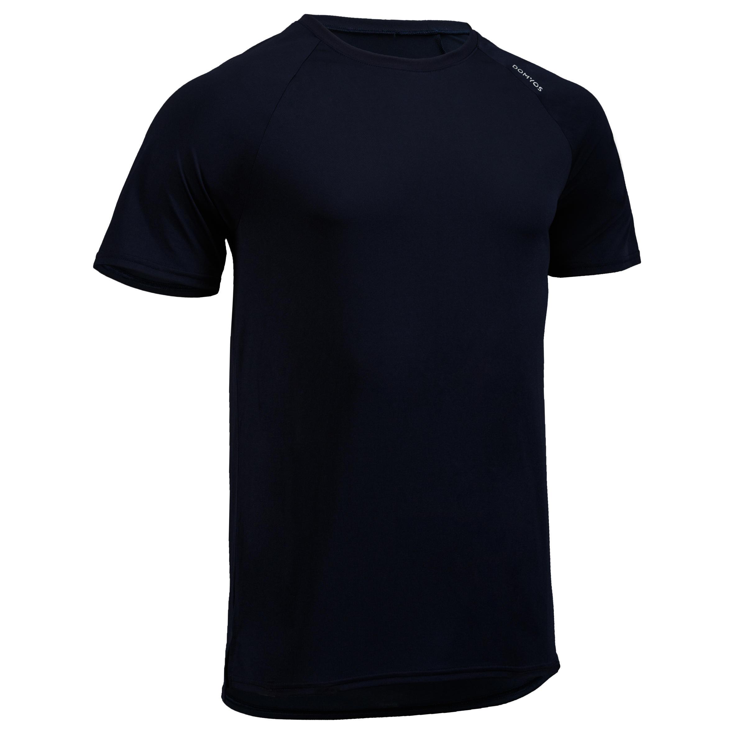 Domyos Fitness shirt FTS 100 voor heren, marineblauw