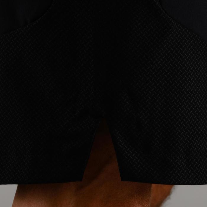Cardiofitness short voor heren FST 500 zwart visgraat
