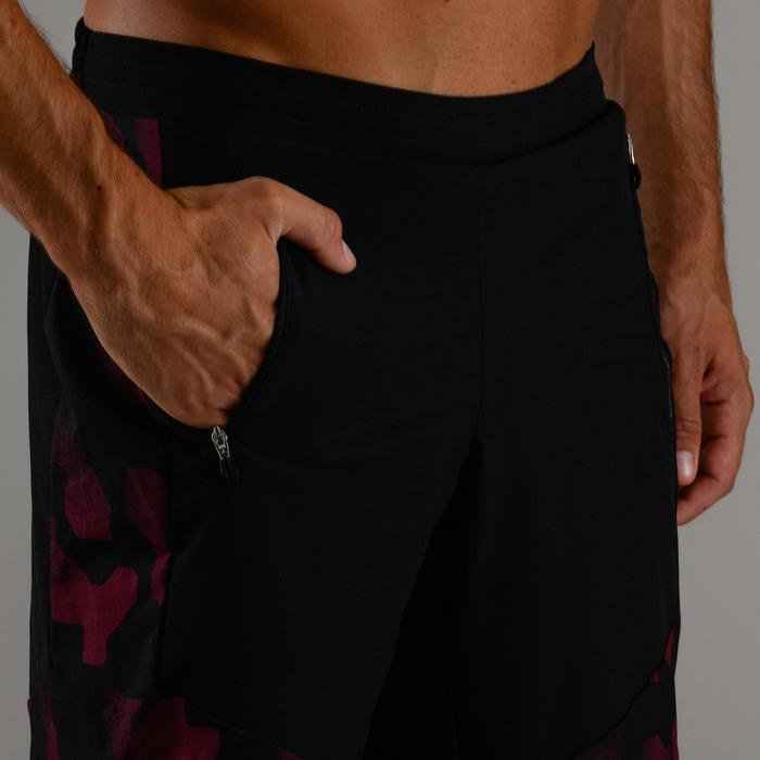 Sporthose kurz FST 500 Cardio Fitness Herren bordeaurot/schwarz