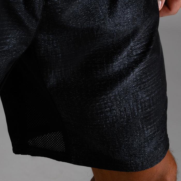 Sporthose kurz FST 120 Herren Print schwarz meliert