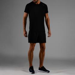 Pantalón Corto chándal Fitness Cardio Domyos Hombre Negro FST 100