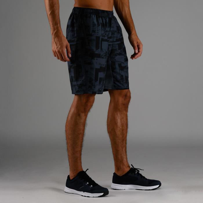 Short cardio fitness homme FST 120 gris AOP