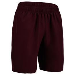 Men's Zip-Pocket Rapid Dry Cardio Gym Short With Mesh - Burgundy