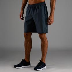 Sporthose kurz FST 120 Ausdauer Fitness Herren blau/grau