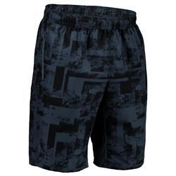有氧健身短褲FST120-灰色AOP