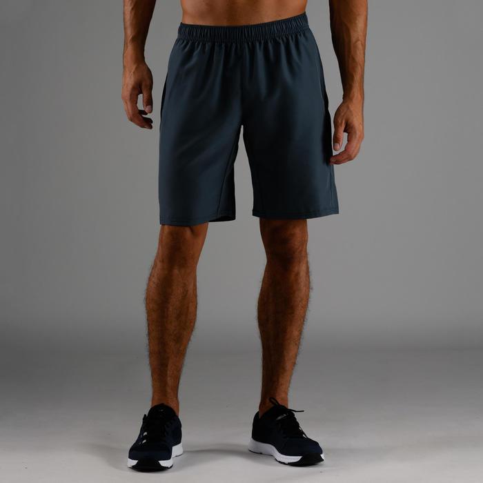Short cardio fitness homme FST 120 gris bleu