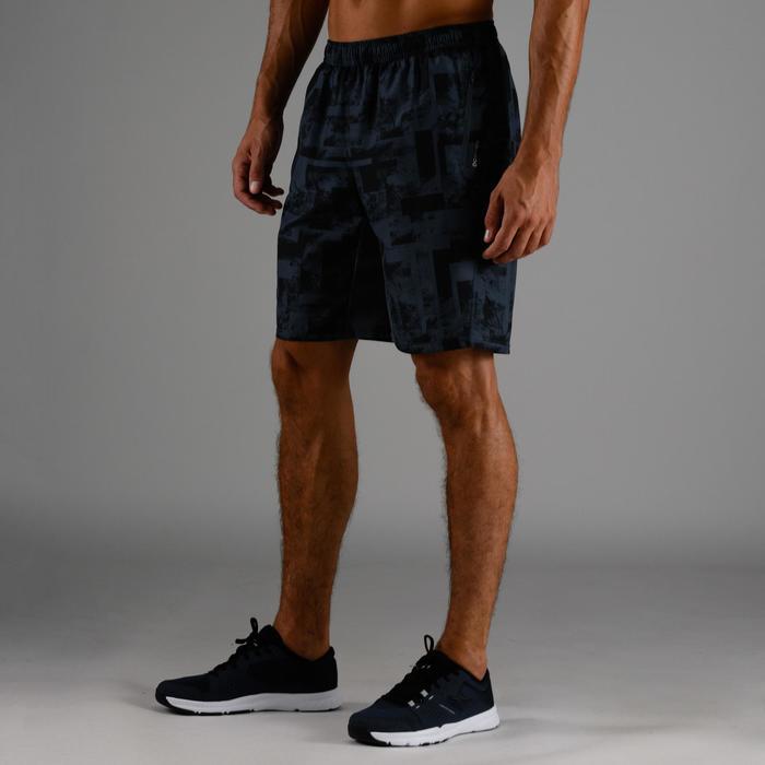 Sporthose kurz FST 120 Cardio-/Fitnesstraining Herren grau AOP