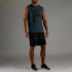 Camiseta sin mangas de cardio fitness hombre FTA 500 gris