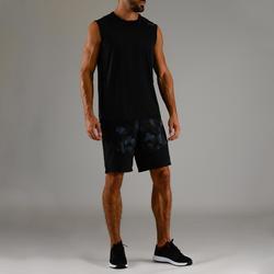 Mouwloos fitness-shirt voor heren FTA 500 zwart