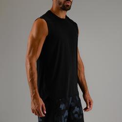 Débardeur cardio fitness homme FTA 500 noir