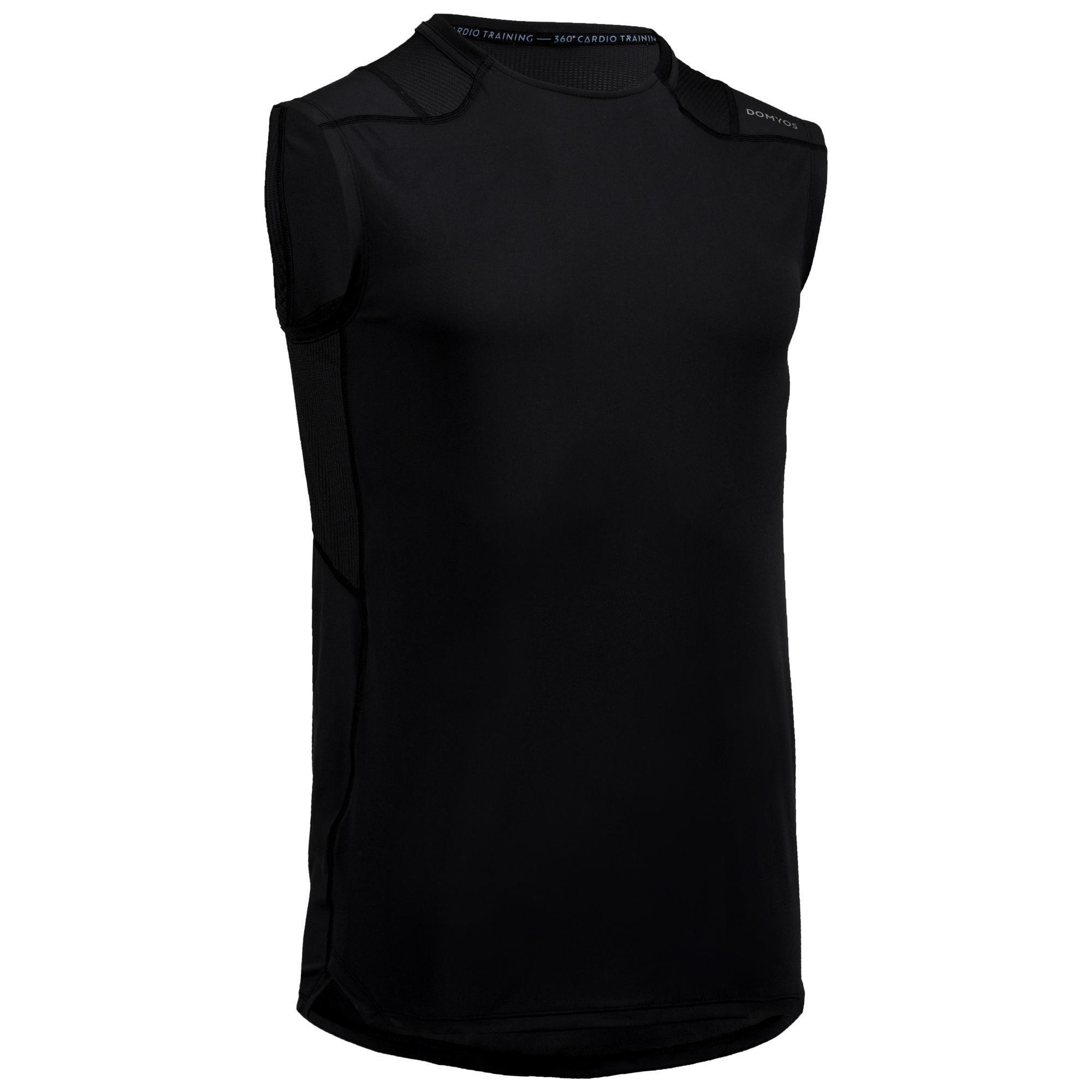 Domyos Tanktop fitness FTA 500 voor heren kopen? Leest dit eerst: Fitness kleding Fitness top met korting