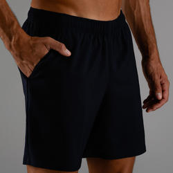 Men's Cardio Fitness Shorts FST 100 - Navy Blue Marl