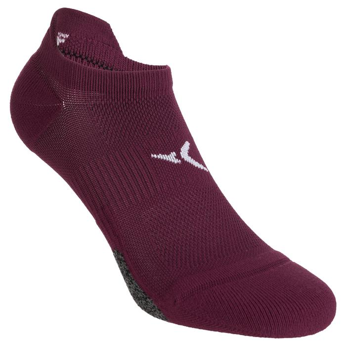 Chaussettes invisibles fitness cardio training x2 violet