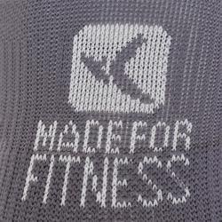 Sportsokken fitness onzichtbaar 2 paar, paars/rijs