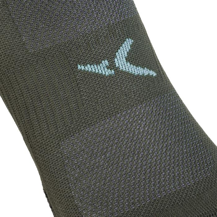 Sportsocken Invisible Fitness Ausdauer 2er-Pack khaki
