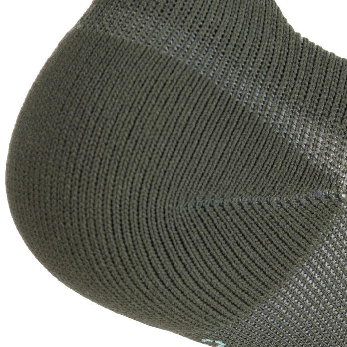 Sportsocken Invisible Cardio-/Fitnesstraining 2er-Pack khaki